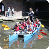 photo from the KEEN boating and canoeing at The Pirate Castle