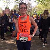 Olivia, a KEEN London coach who ran the London Marathon in 2017