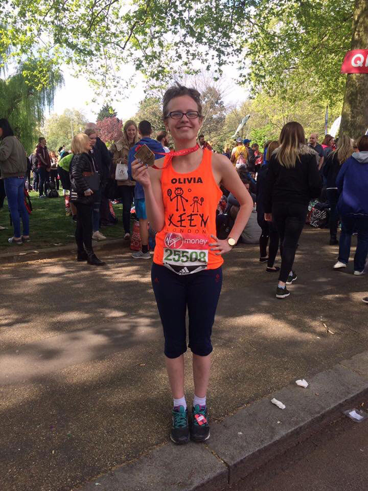 Newsletter issue 30 — Olivia who ran the 2017 London marathon